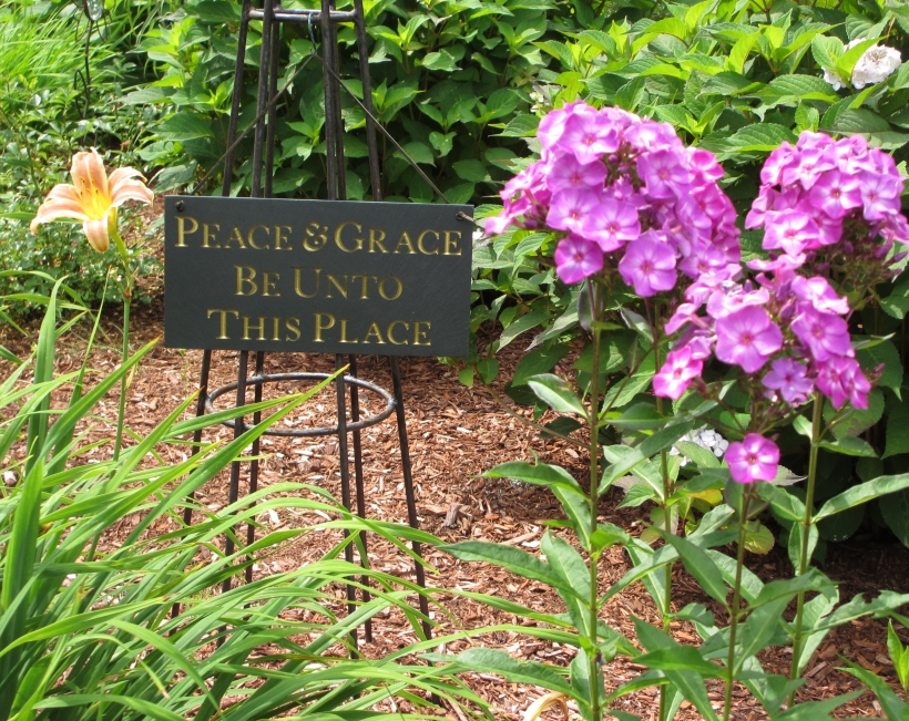 Fitting tribute to where Grace used to rest in the garden.