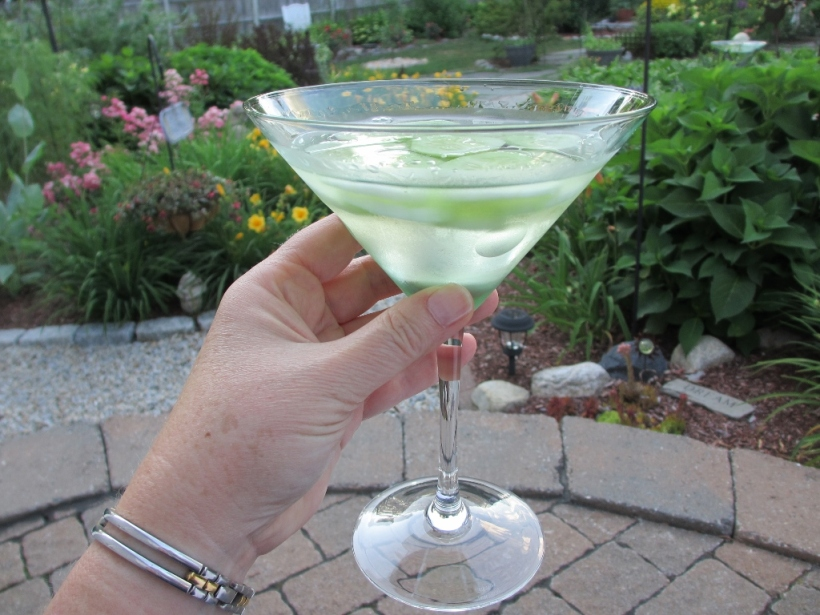 Garden Cucumber Vesper Cocktail